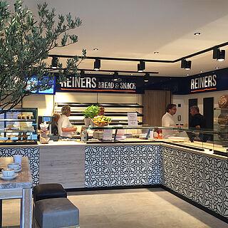 Die Filiale von REINERS bread & snack in Landshut.